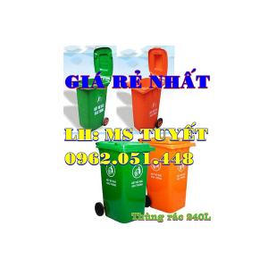 thùng rác 240L nhựa HDPE