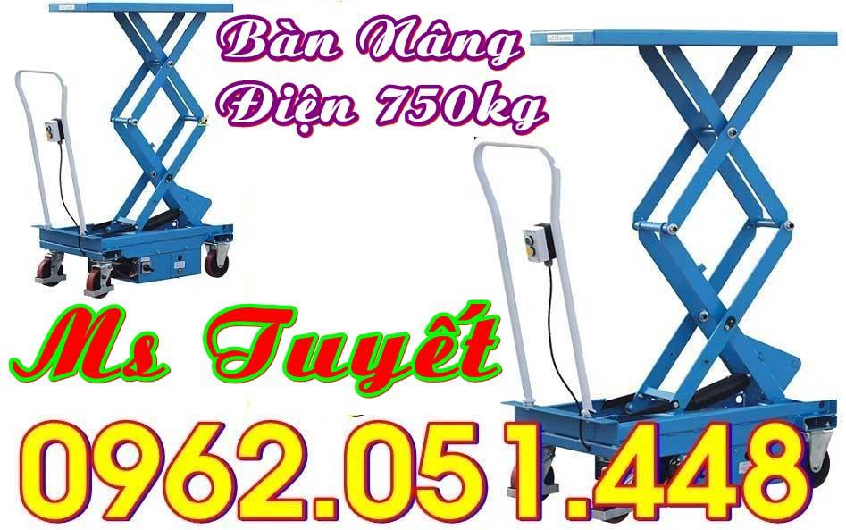Bàn nâng điện 750kg mới