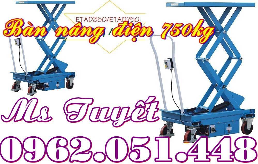 Bàn nâng điện 750kg nhập khẩu