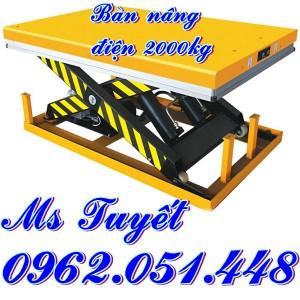 bàn nâng điện 2 tấn