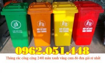 thung-rac-cong-cong-240l-mau-xanh-vang-cam-do-den